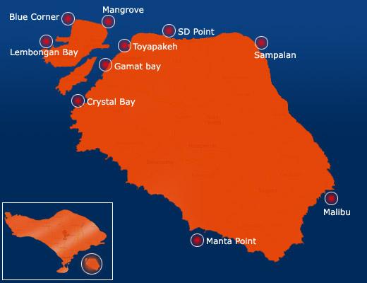 Peta Pulau Nusa Penida