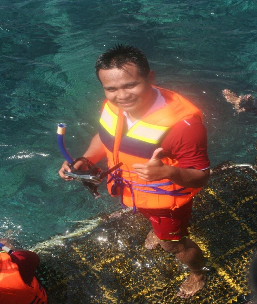 Snorekeling di ponton nusa penida, Bali.